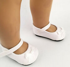 """Hot Doll shoes for 18"""" American Girl Handmade white leather shoes dolls b238"""
