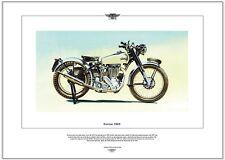 Norton 500T - Motocicletta Stampa Fine Art - Norton's Dopoguerra moto trial foto