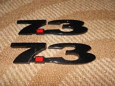 FORD 7.3L 7.3 POWERSTROKE IDI TURBO DIESEL FENDER TAILGATE EMBLEMS BLACK W RED 2