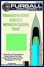 Furball Aero Design 1/48 #WT002 F-14 Green Windscreen Tint Film for Hasegawa