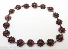 Genuine Natural Bohemian Garnet Bracelet with Rose Cut Garnets (#3168)