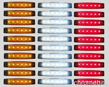 30 pcs 24V 6 LED SMD WHITE YELLOW RED SIDE MARKER LIGHT POSITION TRUCK TRAILER