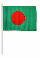 "12x18 12""x18"" Wholesale Lot of 6 Bangladesh Stick Flag wood staff"