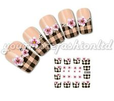 NAIL ART WATER TRANSFER STICKERS DECALS WRAPS  BROWN PATTERNS STYLE(D94)