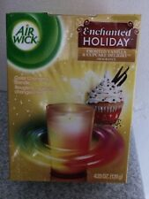 Air Wick Enchanted Holiday Frosted Vanilla & Cupcake Delight COLOR CHANGE CANDLE
