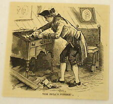 small 1880 magazine engraving ~ TOM BELL'S ROBBERY, Rev William Tennent