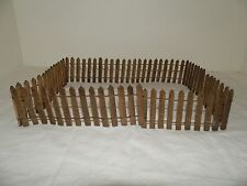 Vtg Wooden Picket Fencing 3ft+ Wood & Wire Doll House Train Set H 2 1/8""