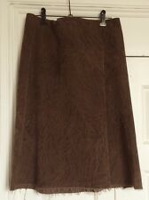 For Design Sake A- Line Womens brown Corduroy skirt Size 12