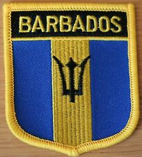 BARBADOS Carribean Shield Country Flag Embroidered PATCH Badge P1
