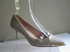 Enzo Angiolini Grasyn Light Gold Sparkly Leather Kitten Heels Sz 6 M