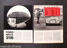AY04 - Clipping-Ritaglio -1967- LE MANS , FERRARI FORD PROTOTIPI