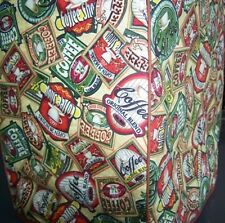Coffee Labels Quilted Fabric Cover for Bunn Coffee Makers NEW