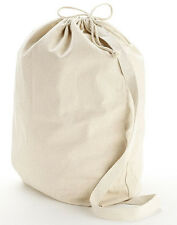 NEW Heavy Duty Durable Natural Cotton Canvas Laundry Bag (SMALL SIZE)