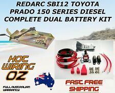 REDARC SBI12 DUAL BATTERY SYSTEM KIT INC TRAY WIRING 150 SERIES PRADO DIESEL