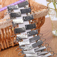 20PCS Stainless Steel Metal Window Shower Curtain Rod Clip Rings Clip Tools Set