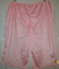 PINK NYLON TRICOT Long Boxers PETTIPANTS & PANTY (Sheer Sleeve) Combo  30 - 42""