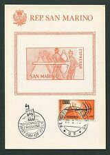 San MARINO MK 1965 Mauro arma Crossbow Maximum cartolina MAXIMUM CARD MC cm d7373