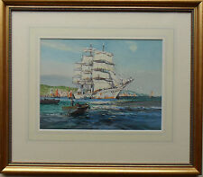 WILFRED KNOX 1844-1966 ORIGINAL SIGNED MARINE PAINTING 'CLIPPER AT FULL SAIL'