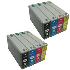 8 Pk New Ink Cartridges 676XL for Epson 676XL WorkForce WP-4520 WP-4530 WP-4533