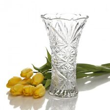 "Gibson Home jewelite Clear Etched Glass Flower Vase - 9.25"" H - Dishwasher Safe"