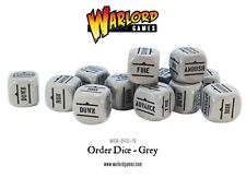 Warlord Games: Bolt Action: WW2: Bolt Action Orders Dice - Grey (12)