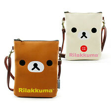 Cute Small Rilakkuma Faux Leather Crossbody Travel Side Bag Passport Organizer