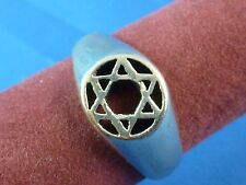 Sterling Silver Star of David Cut Out Round Top Ring Size 9.25 Stamped 925