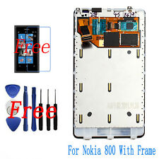 Original LCD Display Touch Screen Glass Digitizer Frame For Nokia Lumia 800 Tool