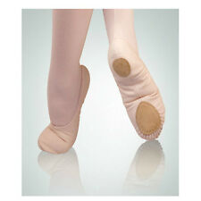 "Body Wrappers 246C Girl Size 1.5 ""Wendy"" Peach Canvas Split Sole Ballet Slipper"
