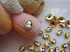 MD-442 5pcs Gold Beauty Cameo Metal Deco Charms Nail Art
