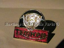 new TRIUMPH TIGER HEAD metal PIN LAPEL BADGE red green gold classic motorcycles