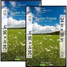 Mainstays 24x36 Basic Poster Picture Frame, Black, Set of 2