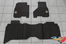 2013-2017 Dodge Ram 1500-3500 Crew Cab Canyon Brown Front & Rear Floor Mats OEM