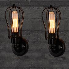 2stk.Vintage  Retro Käfig Wandlampe Wandleuchte Metall Antik-Stil Außenlicht