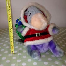 Large 2002 Rare Disney Christmas Eeyore Dressed as Santa & sack of presents