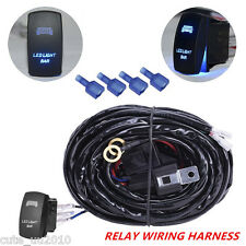 12V 24V  300w LED Light Bar Work Light Wiring Harness Relay Laser Rocker Switch