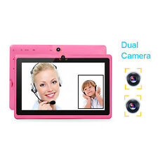 """7"""" inch Android 4.4 Quad Core Pink Tablet PC MID 8GB Dual Camera Wifi Bluetooth"""