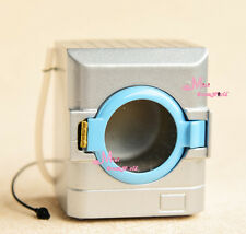 1:12 Scale Dollhouse Miniature TOY Silver Washer Washing Machine Height 6.3cm
