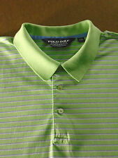 Mens Ralph Lauren Polo Golf Pima Cotton Short Sleeve Shirt Striped Green 2XL XXL