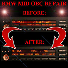 BMW E39 540 540i RADIO STEREO DISPLAY MID OBC - LCD Screen Display Pixel REPAIR