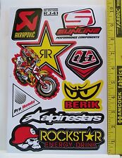 REMOTE CONTROL HOBBY CAR BMX DECALS 1 SHEET STICKERS LOOSE
