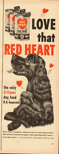 1950's Vintage and for RED HEART Dog Food`Art`Cocker Spaniel (120813)