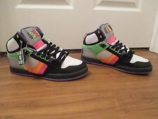 BNIB Size 12 Osiris NYC 83 Shoes Black, White, Multi Color
