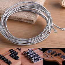 4pcs Silver Bass Guitar Steel Strings Sets Replacement For Guitar Beginner Gift