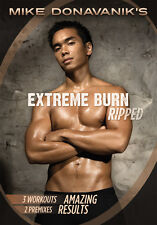 EXTREME BURN RIPPED DVD WITH MIKE DONAVANIK WORKOUT EXERCISE NEW 3 WORKOUTS