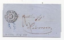 Z963-VIA DI MARE-PREF.GENOVA/LIVORNO 1861
