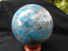 1910g 105mm BOULE SPHERE en APATITE BLEUE Madagascar  Lithothérapie pierre