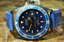 OUT OF ORDER OOO Blue Tudor 40mm  - Vintage Look -  Faded Blue Jeans Hipster