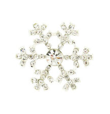 10 MINI SNOWFLAKE RHINESTONE DIAMANTE EMBELLISHMENT IDEAL FOR WINTER WEDDINGS