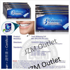 14 x 3D Teeth Whitening Strips 7 Pouches White Enamel Safe Fast Result